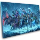 """Hearthstone Knights of the Frozen Throne Game 8""""x12"""" (20cm/30cm) Canvas Print"""