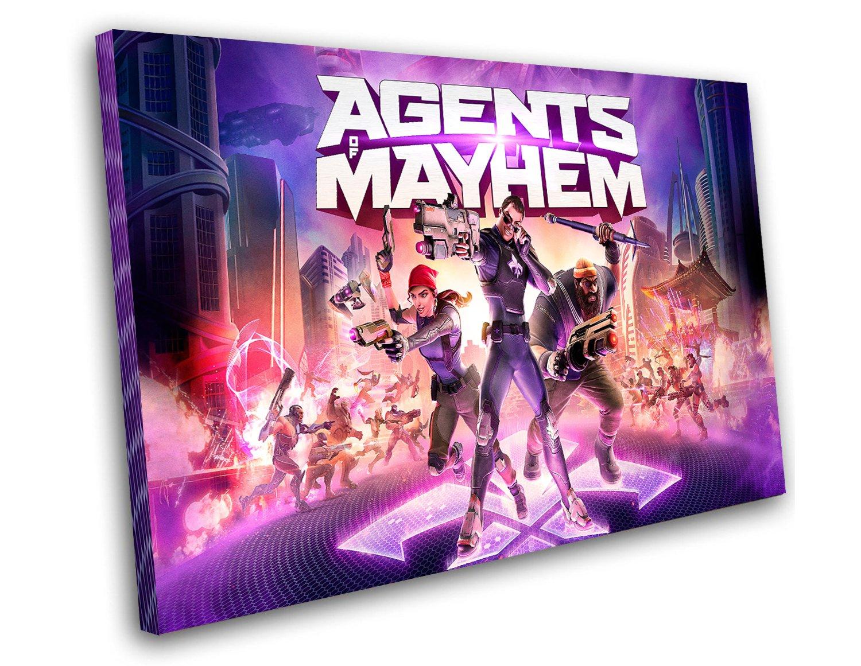 "Agents of Mayhem Game 12""x16"" (30cm/40cm) Canvas Print"