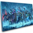 """Hearthstone Knights of the Frozen Throne Game 12""""x16"""" (30cm/40cm) Canvas Print"""