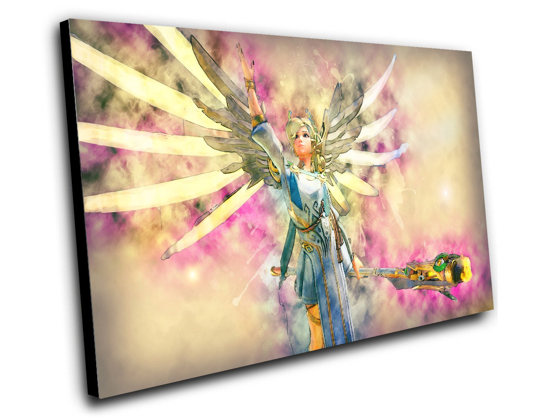 "Overwatch Mercy Game  12""x16"" (30cm/40cm) Canvas Print"
