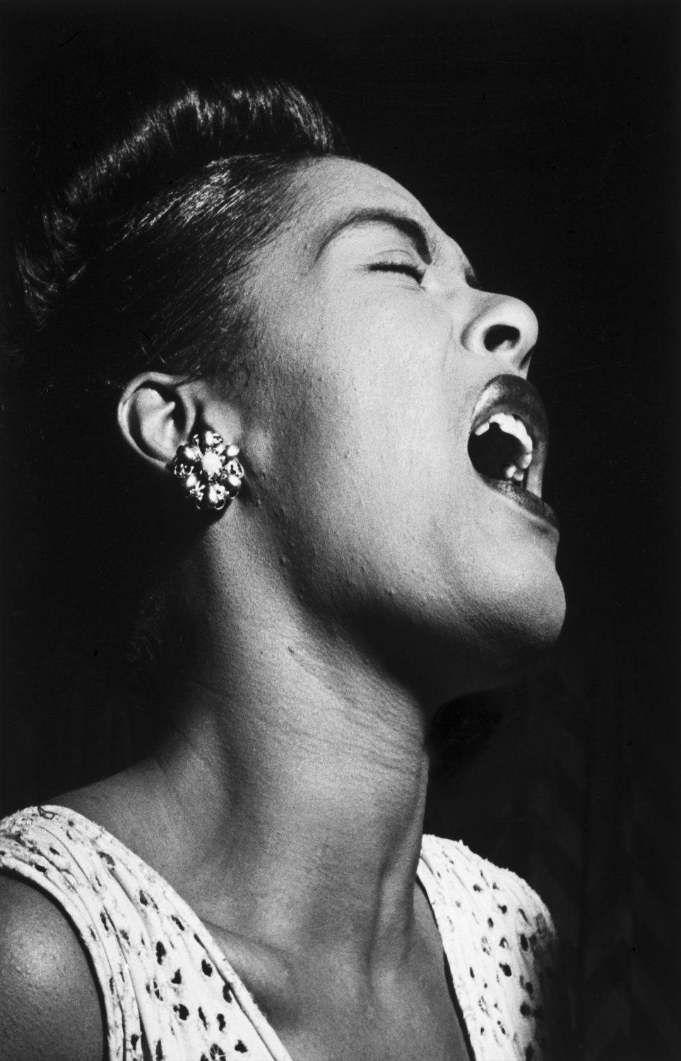 """Billie Holiday   13""""x19"""" (32cm/49cm) Polyester Fabric Poster"""