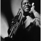 "Louis Armstrong  13""x19"" (32cm/49cm) Polyester Fabric Poster"