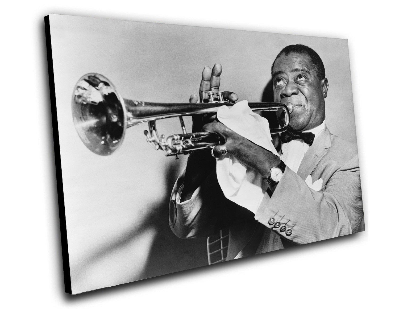 """Louis Armstrong  8""""x12"""" (20cm/30cm) Canvas Print"""