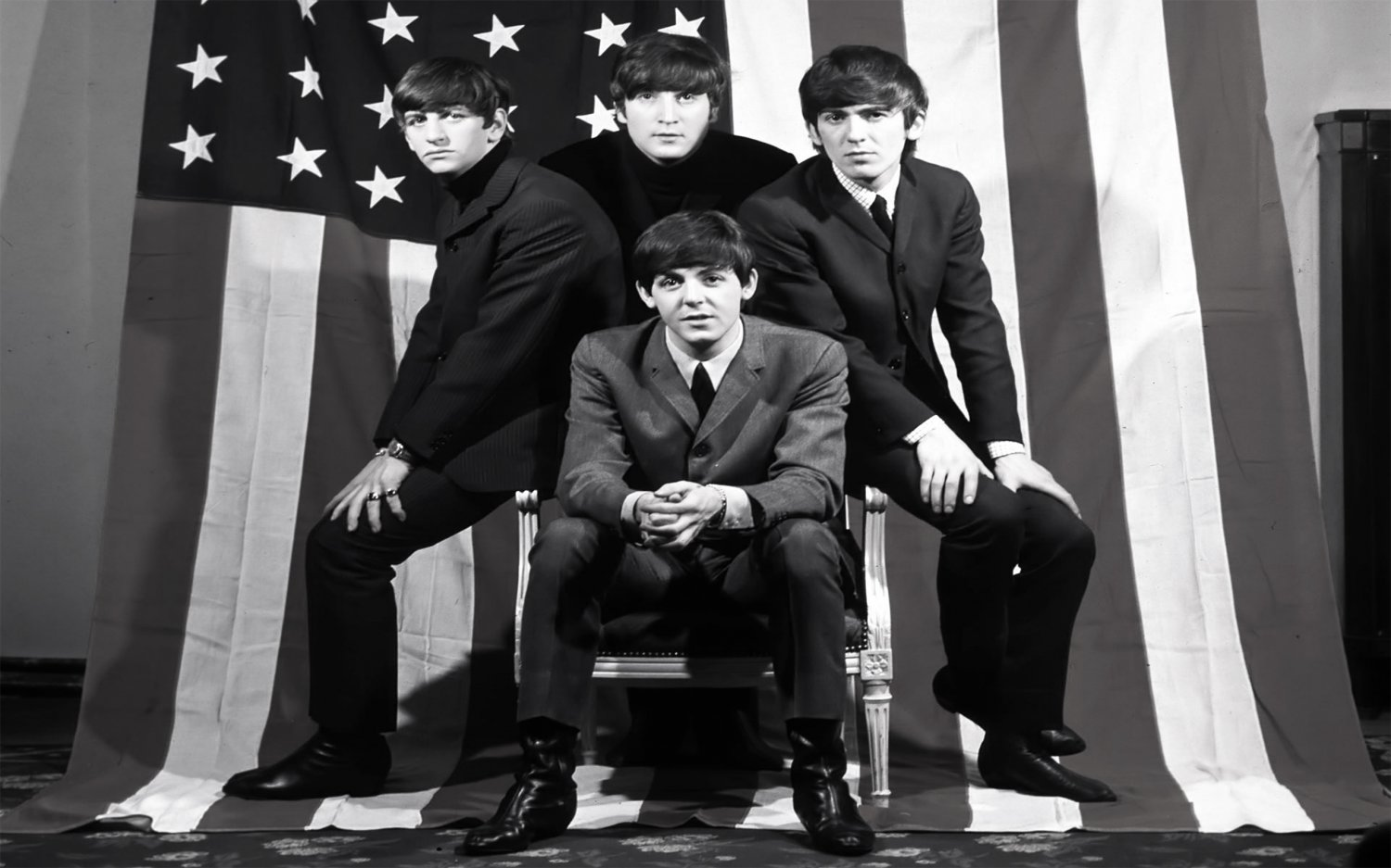 "The Beatles  13""x19"" (32cm/49cm) Polyester Fabric Poster"