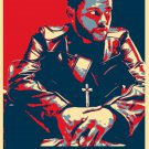 """The Weeknd   13""""x19"""" (32cm/49cm) Polyester Fabric Poster"""