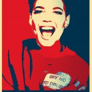 "Halsey  13""x19"" (32cm/49cm) Polyester Fabric Poster"