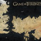 """Game of Thrones Map   13""""x19"""" (32cm/49cm) Polyester Fabric Poster"""