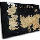 "Game of Thrones Map  8""x12"" (20cm/30cm) Canvas Print"