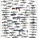 "Assault Rifles and Carbines Chart 18""x28"" (45cm/70cm) Canvas Print"