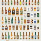 "Fantastical Fictive Beers Chart 18""x28"" (45cm/70cm) Canvas Print"