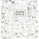 "Hand Tools Chart 18""x28"" (45cm/70cm) Canvas Print"