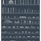 """The Schematic of Structures Chart 18""""x28"""" (45cm/70cm) Canvas Print"""