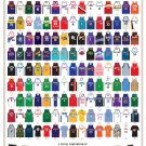 "A Visual Compendium of Basketball Jerseys Chart 18""x28"" (45cm/70cm) Canvas Print"