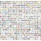 "All Pokemons Chart 24""x43"" (60cm/110cm) Canvas Print"