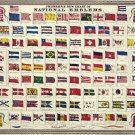 "Johnson's New Chart of National Emblems  18""x28"" (45cm/70cm) Canvas Print"
