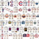 """MLB NL Central Old Logos and Uniforms Chart   18""""x28"""" (45cm/70cm) Canvas Print"""