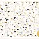 """The Diagram of Dogs Chart  18""""x28"""" (45cm/70cm) Canvas Print"""