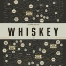 "The Many Varieties of Whiskey Chart  18""x28"" (45cm/70cm) Canvas Print"