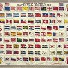 "Johnson's New Chart of National Emblems  18""x28"" (45cm/70cm) Poster"