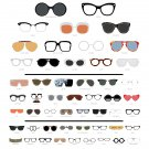 "The Chart of Famous Eyewear  18""x28"" (45cm/70cm) Canvas Print"