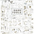 """The Chart of Hand Tools  18""""x28"""" (45cm/70cm) Canvas Print"""