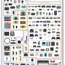 "The Chart of Controllers   18""x28"" (45cm/70cm) Canvas Print"