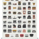 "A Visual Compendium of Typewriters Chart   18""x28"" (45cm/70cm) Poster"