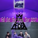 """Fall Out Boy Mania Tour  13""""x19"""" (32cm/49cm) Polyester Fabric Poster"""