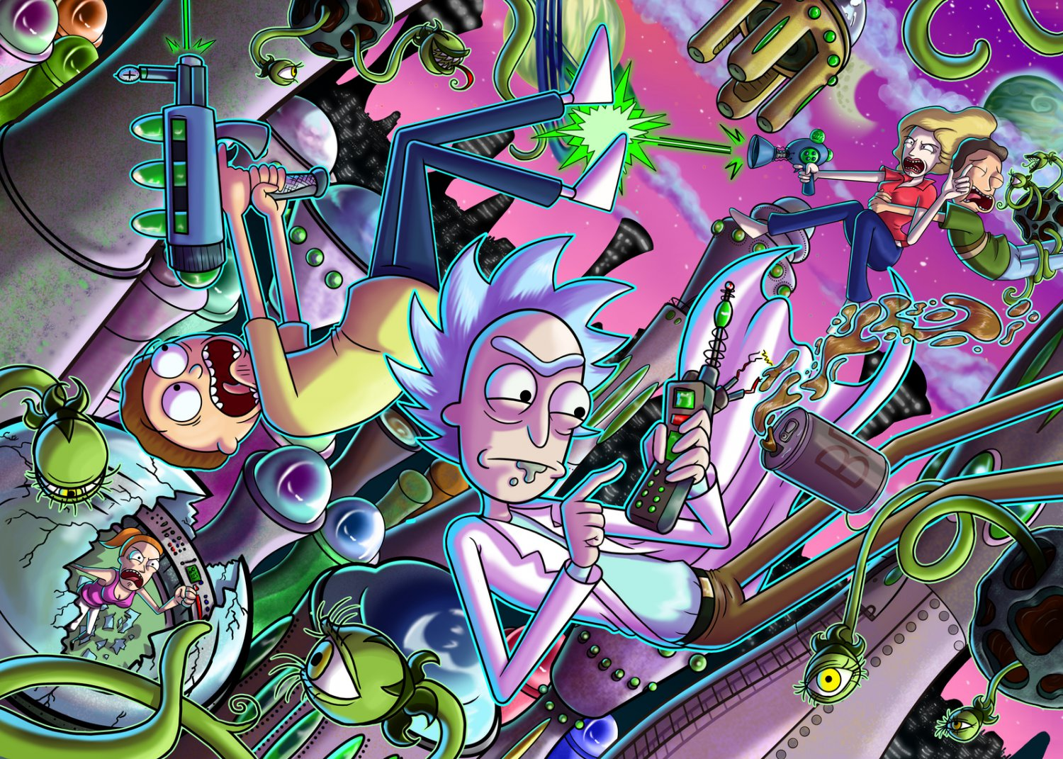 """Rick and Morty  18""""x28"""" (45cm/70cm) Poster"""