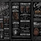 "Guide to Starbucks Espresso Chart  18""x28"" (45cm/70cm) Poster"