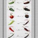 "Hot Chili Peppers Chart  18""x28"" (45cm/70cm) Canvas Print"