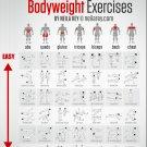 "Bodyweight Exercises Chart 13""x19"" (32cm/49cm) Poster"