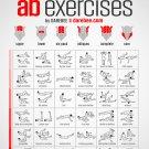 "No-equipment Ab Exercises Workout Chart  13""x19"" (32cm/49cm) Poster"