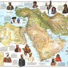 """People of the Middle East Chart 18""""x28"""" (45cm/70cm) Canvas Print"""