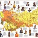 "People of the Soviet Union Chart  18""x28"" (45cm/70cm) Canvas Print"
