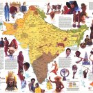 "Peoples of South Asia Chart  18""x28"" (45cm/70cm) Poster"