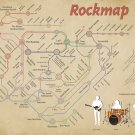 """Rockmap Chart  18""""x28"""" (45cm/70cm) Canvas Print"""