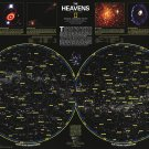 """The Heavens Wall Map Chart  18""""x28"""" (45cm/70cm) Poster"""