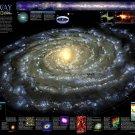 "The Milky Way Galaxy Chart   18""x28"" (45cm/70cm) Canvas Print"