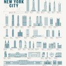 "Splendid Structures of New York City 18""x28"" (45cm/70cm) Canvas Print"