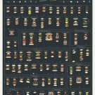 "The Charted Sandwich Board Chart  18""x28"" (45cm/70cm) Canvas Print"