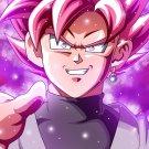 "Goku Black Super Saiyan Rose  18""x28"" (45cm/70cm) Canvas Print"