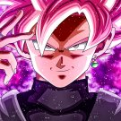 "Goku Black Super Saiyan Rose  18""x28"" (45cm/70cm) Canvas Print"