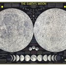 """The Earth's Moon Infographic Chart  18""""x28"""" (45cm/70cm) Poster"""