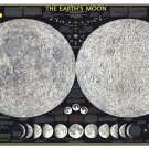 """The Earth's Moon Infographic Chart  18""""x28"""" (45cm/70cm) Canvas Print"""