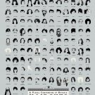 "A Visual Compendium of Notable Haircuts in Hollywood Chart  18""x28"" (45cm/70cm) Poster"