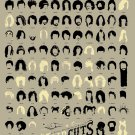 """A Visual Compendium of Notable Haircuts in Popular Music Chart  18""""x28"""" (45cm/70cm) Poster"""