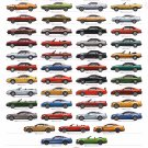 "Ford Mustang 50th Anniversary Edition Chart  18""x28"" (45cm/70cm) Canvas Print"