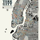 "The Distinguished Drinkeries of New York City Chart  18""x28"" (45cm/70cm) Poster"
