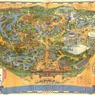 "Disneyland Map  18""x28"" (45cm/70cm) Canvas Print"